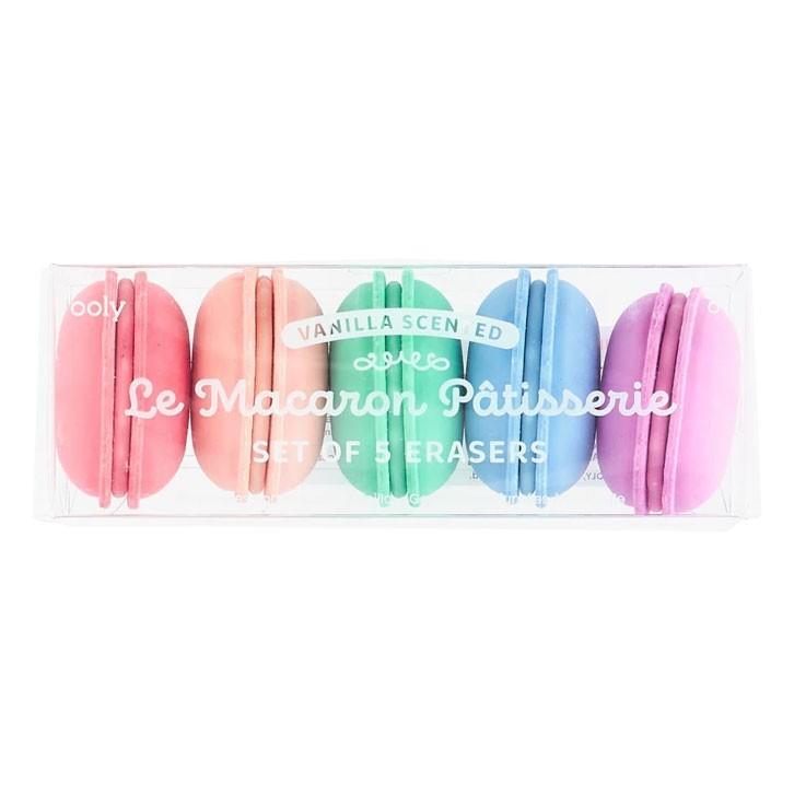 OOLY - 5 Radiergummis Macarons Pastell mit Duft