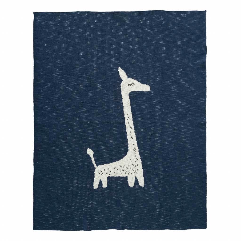Fresk - Babydecke Giraffe aus Strick 80 x 100 cm