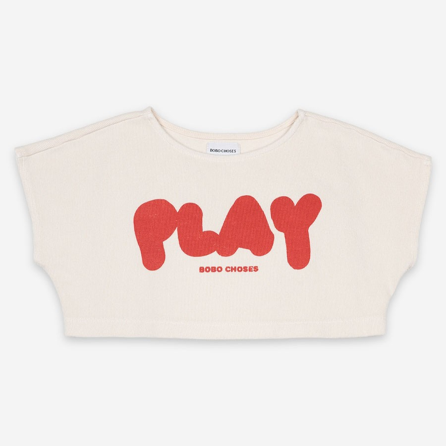 "Bobo Choses - Kurzes Sweater Shirt ""Play"" Creme"