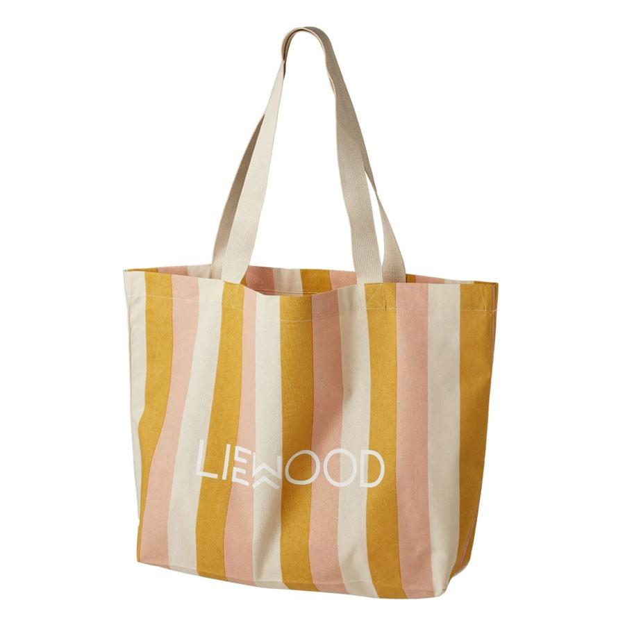 Liewood - Große Tragetasche Peach Sandy Yellow Mellow gestreift