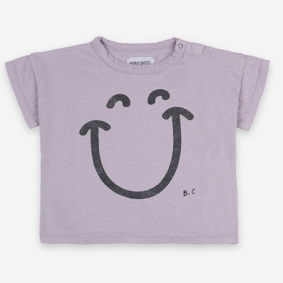 "Bobo Choses - T-Shirt ""Big Smile"" Lila"