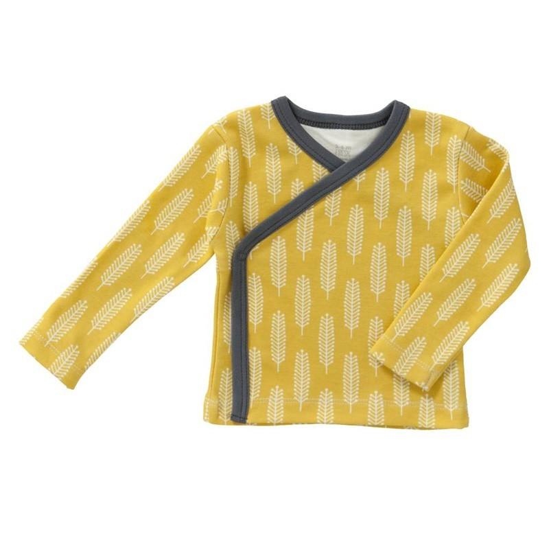 """Fresk - Weiches Wickelhemd """"Hafer"""" Zitronenfarben"""