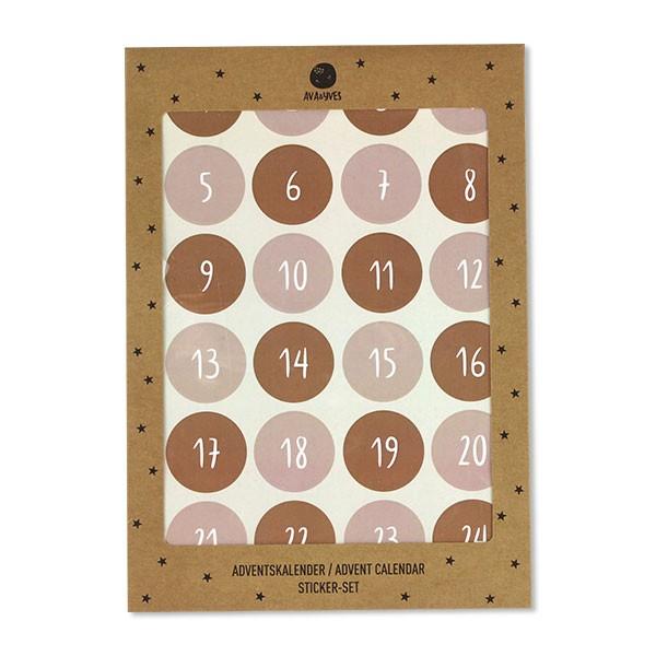 Ava & Yves - 24 Adventskalender Aufkleber Zahlen