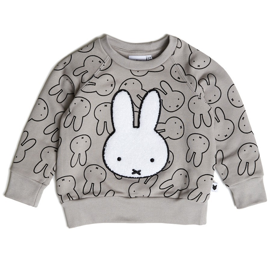 Tobias & the Bear - Miffy Sweater Grau
