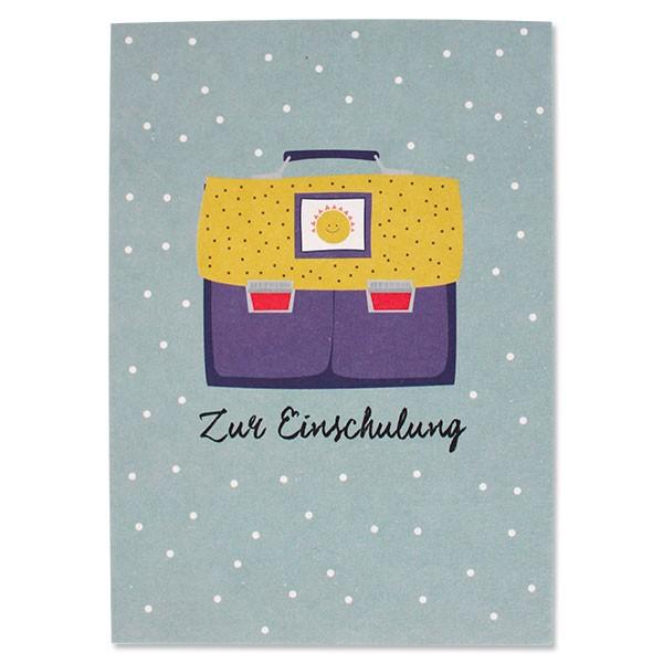 "Ava & Yves - Postkarte ""Einschulung"""