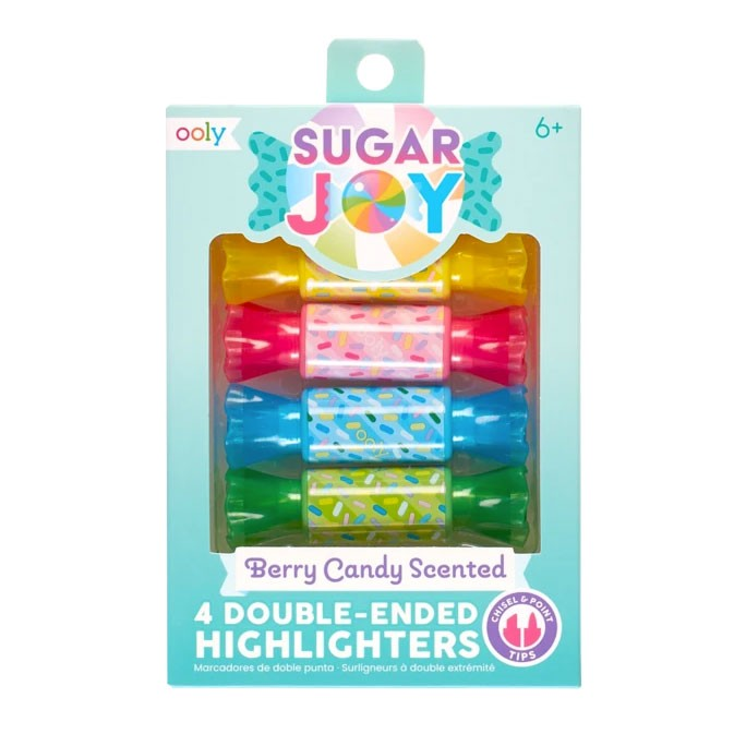 OOLY - 4 Mini Bonbon Marker Sugar Joy mit Duft