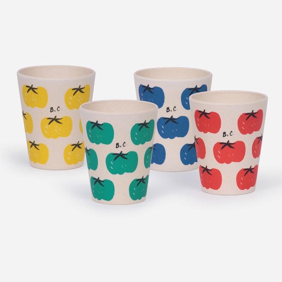 "Bobo Choses - Becher Set ""Tomatoe Pack of Bamboo Glasses"""