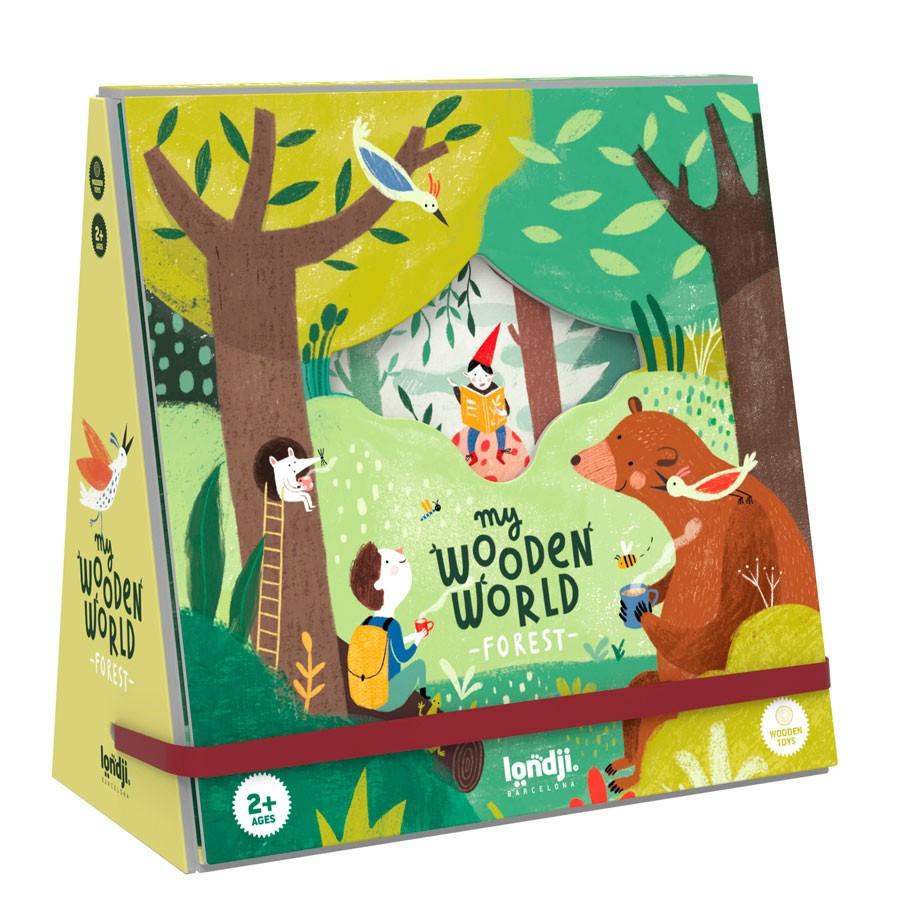 """Londji - Holzfiguren Spiel """"My wooden forest world"""" ab 2 Jahre"""