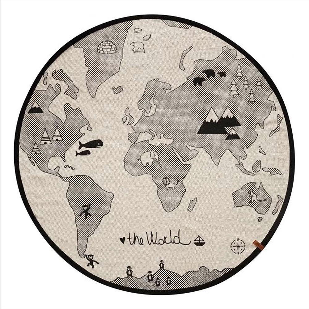 "OYOY - Runder Kinderteppich ""Welt"" World Rug"