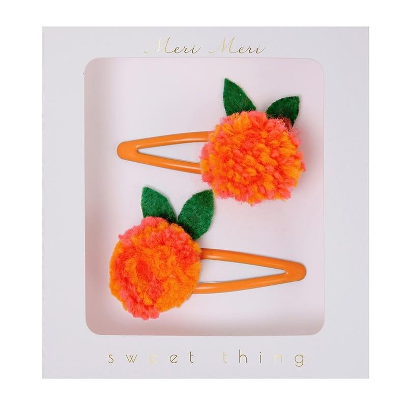 "Meri Meri - 2 Haarspangen ""Orange"""