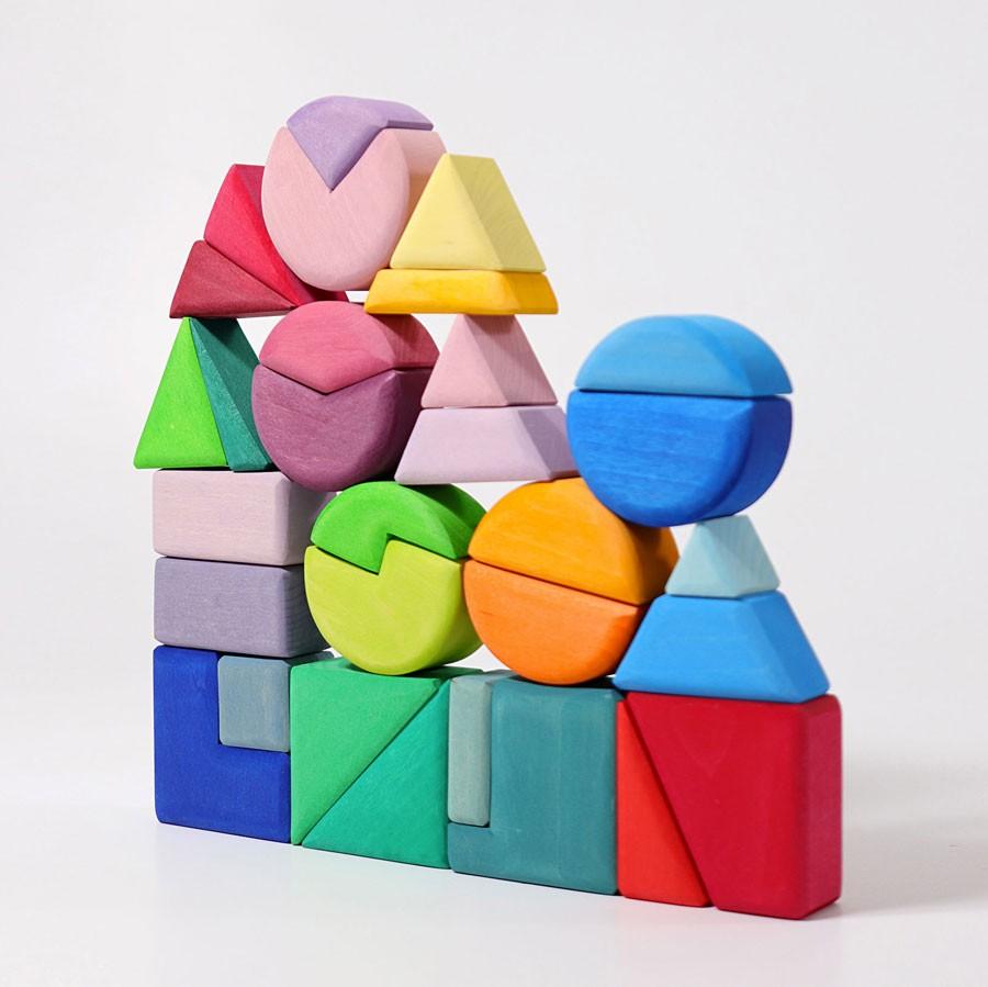 Grimm's - Bauspiel Dreieck Viereck Kreis
