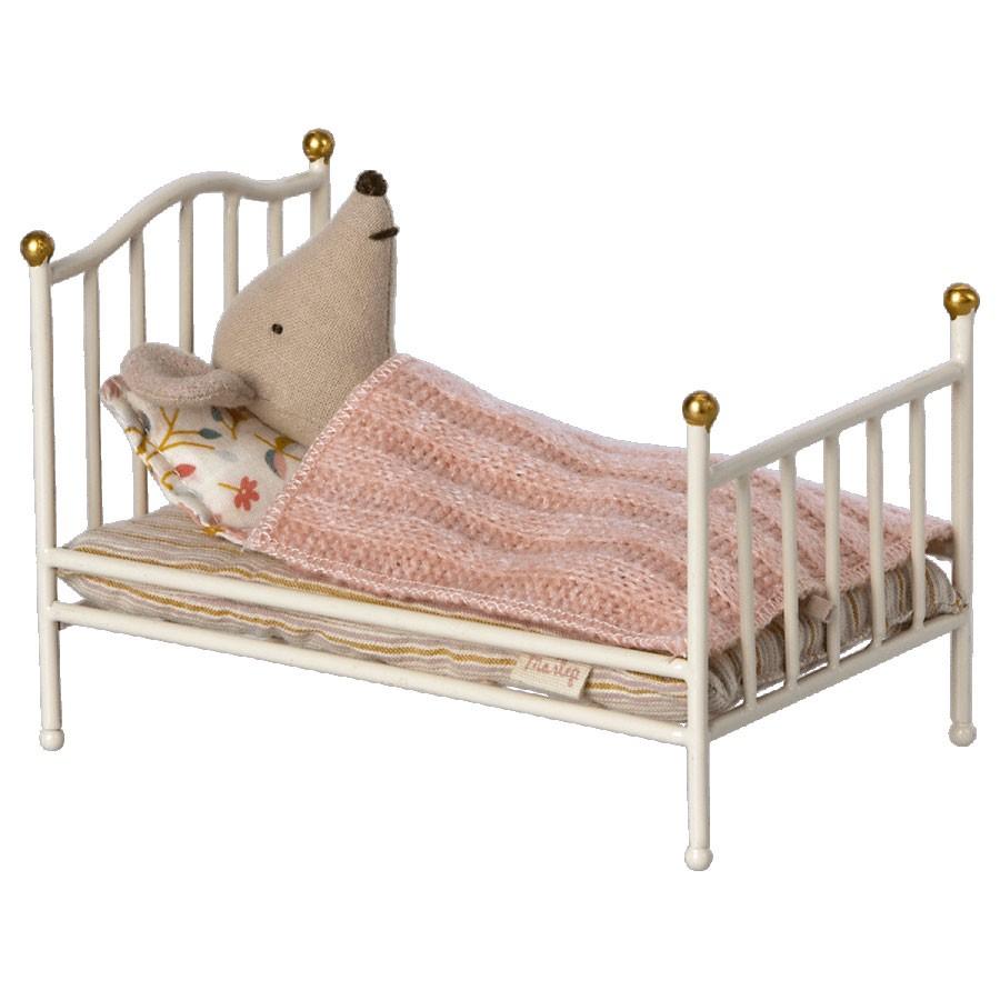 Maileg - Vintage Bett für Maus Weiß