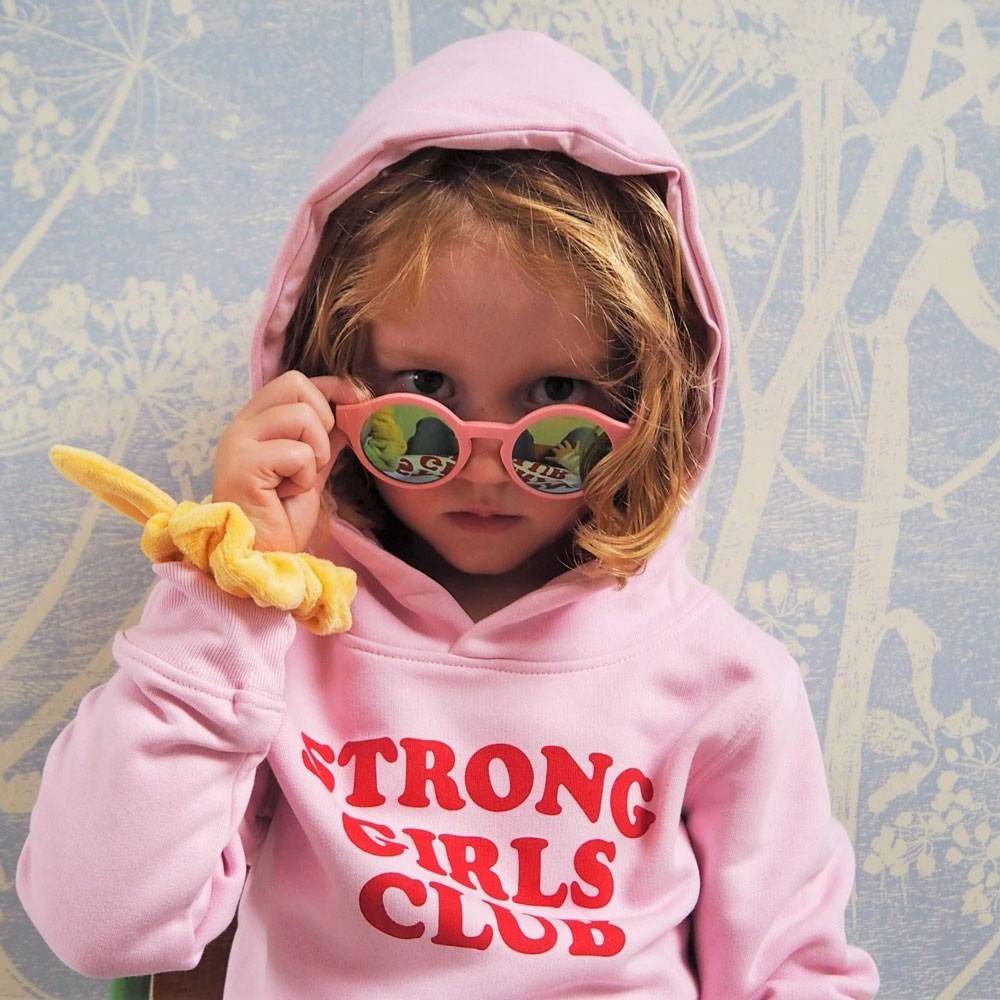 "Muthahood - Hoodie ""Strong Girls Club"" Girls Pink"