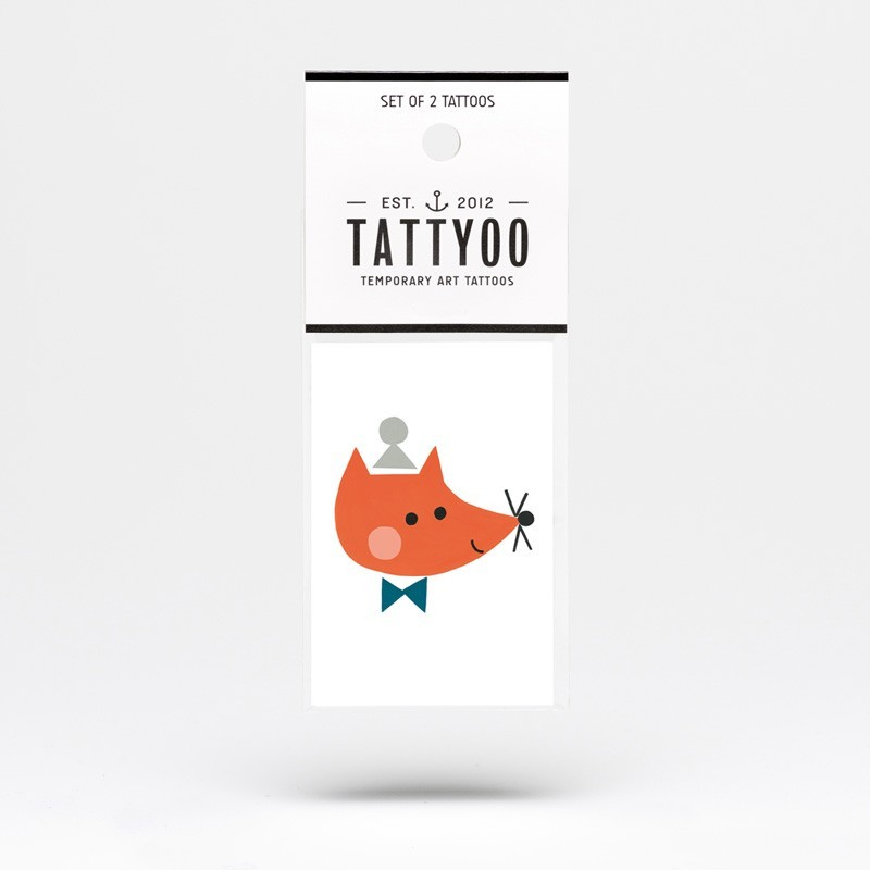 "Tattyoo - 2 Tattoos für Kinder ""Fuchs Vincent"""