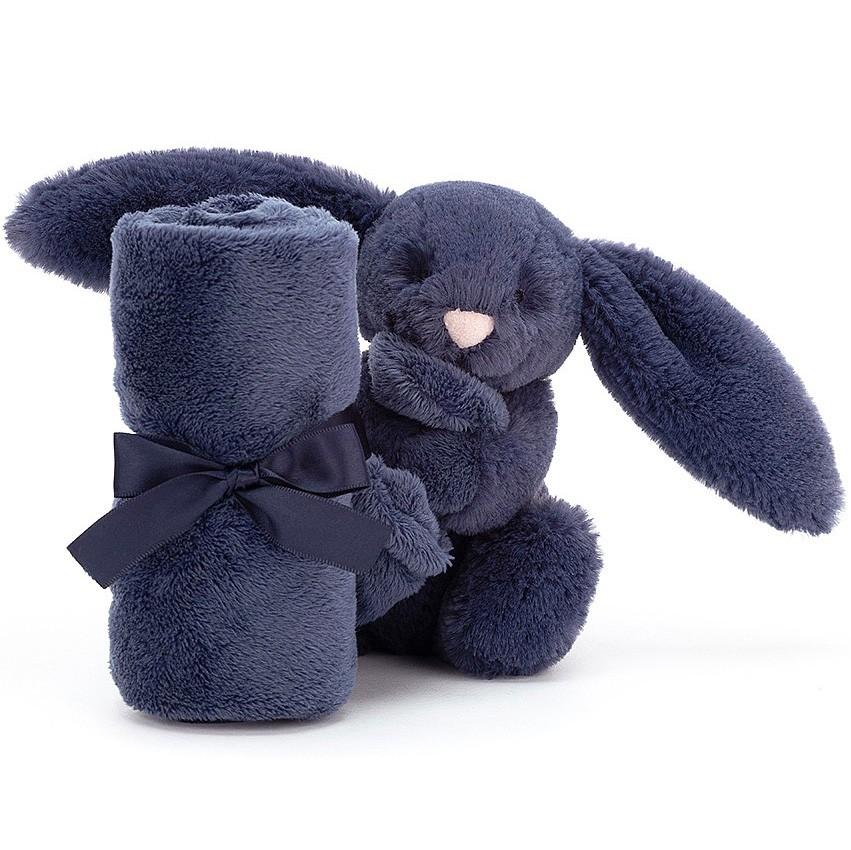 """Jellycat - Schmusetuch """"Kleiner Hase"""" Blau"""
