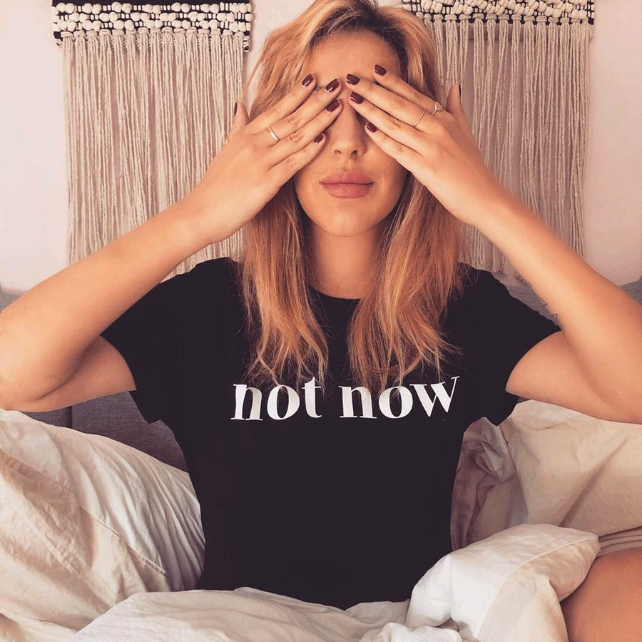 "Bad Moms Club - Woman T-Shirt ""Not Now"" Schwarz"