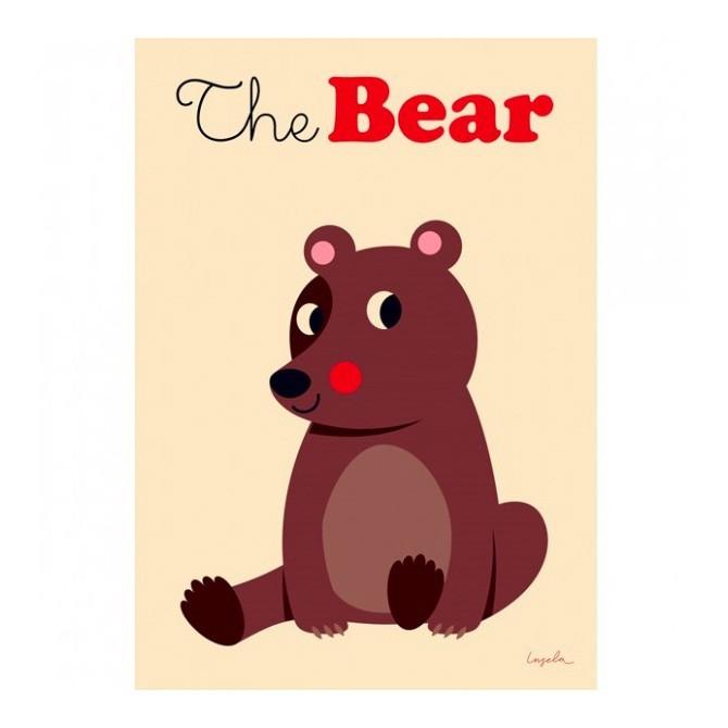 """OMM Design - Poster """"Brauner Bär"""""""