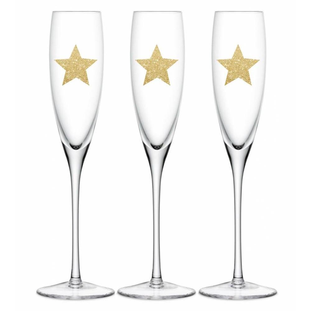 Delight Department - 24 Glitzersterne für Gläser Gold