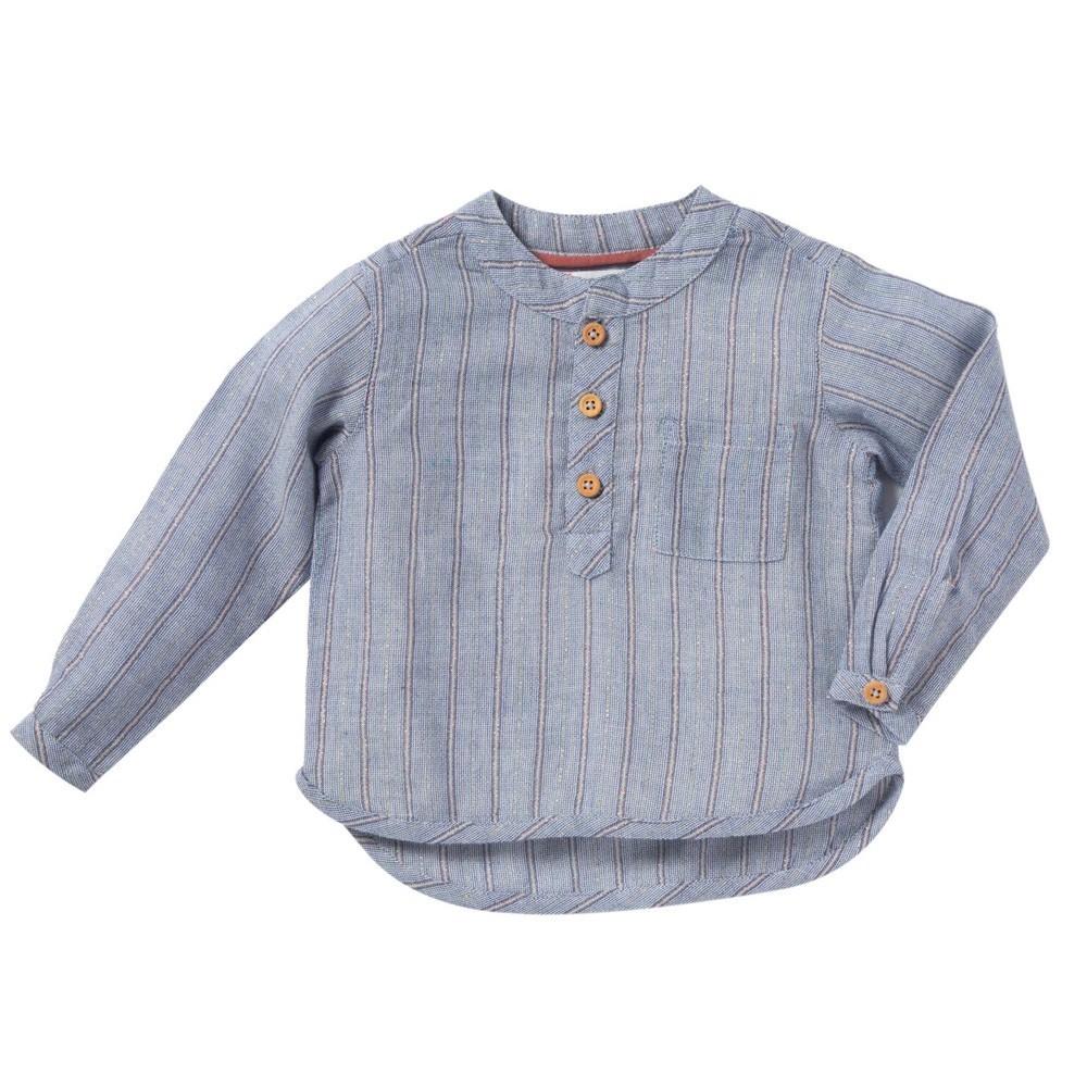 "Bonheur du Jour - Gestreiftes Hemd ""Anton"" Blauweiß"