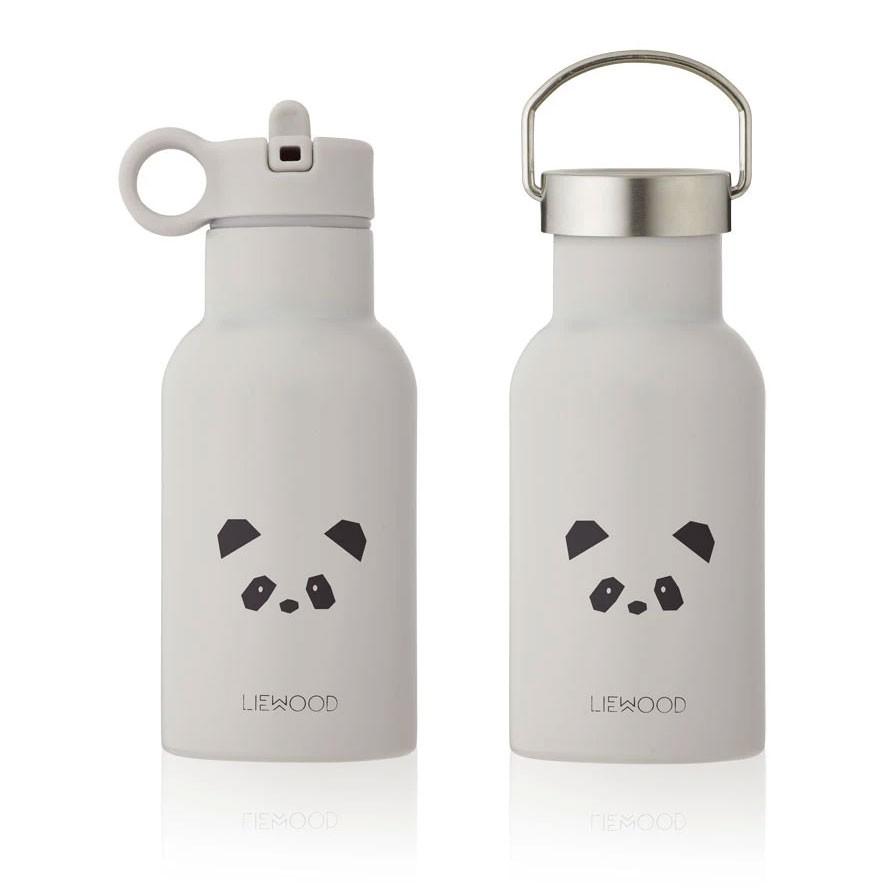 Liewood - Trinkflasche Panda Anker Light Grey