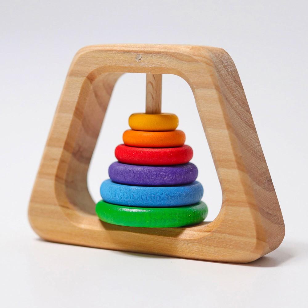 Grimm's Spielzeug - Pyramiden Rassel aus Holz