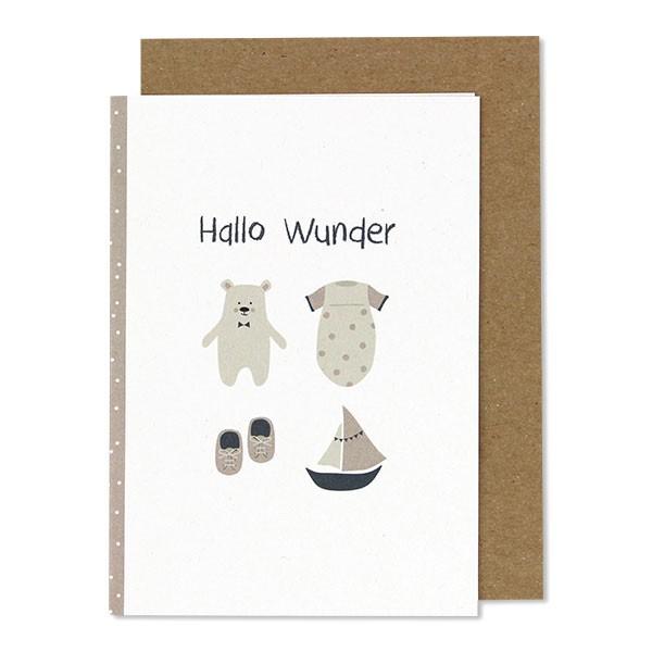 "Ava & Yves - Klappkarte ""Hallo Wunder"""