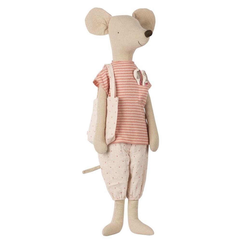 Maileg - Mega Maus mit Schlafanzug und Zahnbürste